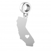 California Charm | California Silhouette Charm | Fits All Bead Style Charm Bracelets | Sterling Silver
