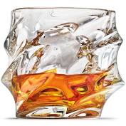 Everest Whiskey Glasses, Scotch Glasses By Ashcroft - Set Of 2. Unique, Elegant, Dishwasher Safe, Glass Liquor or Bourbon Tumblers. Ultra-Clarity Glassware.