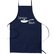 Simmer Down Pan Pun Funny Parody Cooking Baking Kitchen Apron - Navy Blue