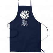 Slice Slice Baby Funny Parody Cooking Baking Kitchen Apron - Navy Blue