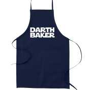 Darth Baker Funny Parody Cooking Baking Kitchen Apron - Navy Blue