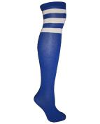 Knee High Coloured Striped Sport Tube Socks Soccer Football Fashionable US SELLER