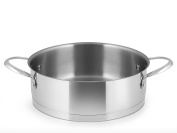 Inoxpran Pleasure Low Casserole with 2 Handles, Stainless Steel, Grey, 33 x 30 x 11 cm