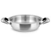 Inoxpran Classic Saucepan with 2 Handles, Stainless Steel, Grey, 45 x 33 x 8 cm