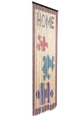 catral 71060015 Curtain Wooden Puzzle L65, 200 x 90 cm, Colour Red, Turquoise and Purple