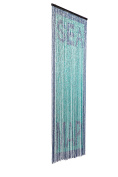 catral 71060018 Wood Curtain - Dolphins L65, 200 x 90 cm, Turquoise and Blue