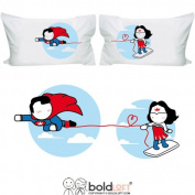 BOLDLOFT Made for Loving You Couples Pillowcases- Funny Couples Gifts, Superman Gifts for Men, Valentines Day Gifts for Boyfriend, Gifts for Couples, His and Hers Gifts, Superhero Gifts for Men