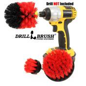 Drill Power Heavy Duty Stiff Bristle Scrub Brush Cleaning Kit