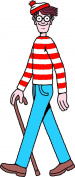 Where's Waldo Life Size Cutout