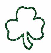 41cm Lighted St. Patrick's Day Irish Shamrock Window Silhouette Decoration
