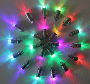 HOSL 60 Pack Multicolor LED Submersible Waterproof Mini Blinking Lights for Paper Lantern Balloon Floral Wedding Halloween Christmas Party Decoration Centrepieces