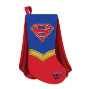 Kurt Adler 48cm Supergirl Shield With Cape Christmas Stocking