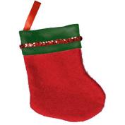 Festive Christmas Elegant Stocking Party Decoration, Felt, 13cm