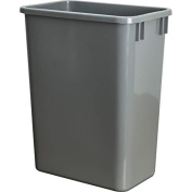 Hardware Resources CAN-35GRY Plastic Waste Container, Grey