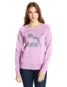 PUMA Women's French Terry Logo Crew Sweatshirt