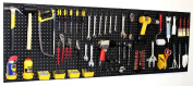 180cm Wide Pegboard Kit Peg Hooks & Bins - Garage Storage Tools EB24243B