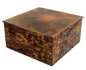 Urban9-5 Rustic Square Coffee Table, Brown/Black