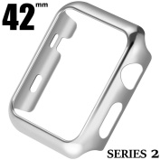 Apple Series 2 Watch 38mm Screen Portector Case,Metal Plated Hard Case Cover with Full Coverage for i Watch,42mm