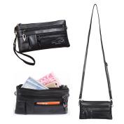 Katloo Leather Small Crossbody Purse Handbag Multi Pocket Bag Wristlet Wallet Clutch