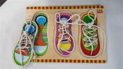 Wooden Shoe Lacing