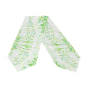 ABLINK Green Musical Note And Forest Song Polyester Table Runner 33cm x 230cm Long Table Top Decoration
