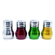 Stainless Steel Salt Pepper Shaker Terya Seasoning Cans with Rotating Cover