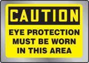 EYE PROTECTION MUST BE WORN IN THIS AREA