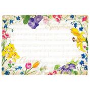Hoffmaster Symphony Flowers Paper Placemat, 25cm x 36cm -- 1000 per case.