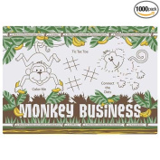 Hoffmaster Two Sided Monkey Business Paper Activity Placemat, 25cm x 36cm -- 1000 per case.