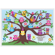 Hoffmaster Two Sided Owl Fun Paper Placemat, 25cm x 36cm -- 1000 per case.