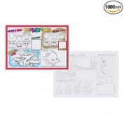 Hoffmaster Two Sided Doodletown Fun Placemat, 25cm x 36cm -- 1000 per case.