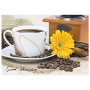 Hoffmaster Morning Coffee Paper Placemat, 25cm x 36cm -- 1000 per case.