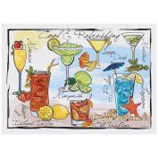 Hoffmaster Cocktails Paper Placemat, 25cm x 36cm -- 1000 per case.