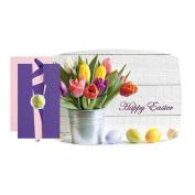 Hoffmaster Easter Tulips Combo Pack with Bonus Napkin Bands Kit -- 750 per case.