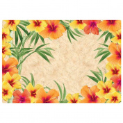 Hoffmaster Hibiscus Paper Placemat, 25cm x 36cm -- 1000 per case.