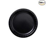 Hoffmaster Round Black Paper Plate, 18cm -- 1000 per case.