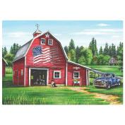 Hoffmaster Patriotic Barn Paper Placemat, 25cm x 36cm -- 1000 per case.