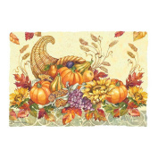 Hoffmaster Fall Bounty Paper Placemat, 25cm x 36cm -- 1000 per case.