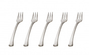 48 Mini Silver Plastic Forks Horderves Picks Toothpick Type Snack Picks