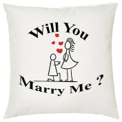 WILL YOU MARRY ME. CUSHION - Romantic / Love / Valentines Day / Wedding Gift / Gift Idea / Home Decor