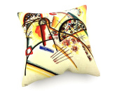Wassily Kandinsky - Composition (mainly red, yellow, black) - 40x40 cm - weewado - cushion / pillow - art, picture, painting, photography