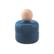 Storage Jar Maggy S Blue Ceramic and Wood 100% made in Italy