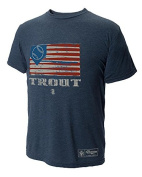 108 Stitches Mike Trout Flag Poly Tri Blend T Shirt