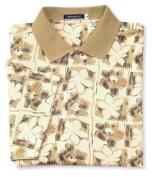 Monterey Club Mens Tonal Hawaiian Plaid Floral Pique Shirt #1570