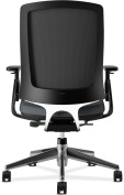 HON Lota Mid-Back Work Chair - Mesh Back Computer Chair for Office Desk, Charcoal with Aluminium Base