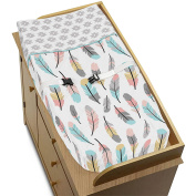 Feather Collection Girls Baby Changing Pad Cover