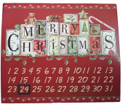 Tii Collections Metal 41cm x 46cm Christmas Countdown Calendar