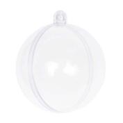 Gracefulvara 10pcs Ball Christmas Baubles Clear Fillable Xmas Tree Decoration