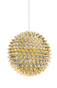 Cypress Home Glitter and Gold Spike Ball Polyester Ornament