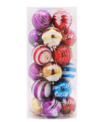 Christmas Tree Ornaments - 24pcs 60mm Christmas Ball